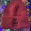 Thumbnail: Knit Beanie Heather Red