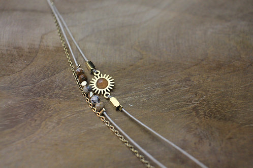 "Bracelet ""Abondance"" - Perles en oeil de tigre"
