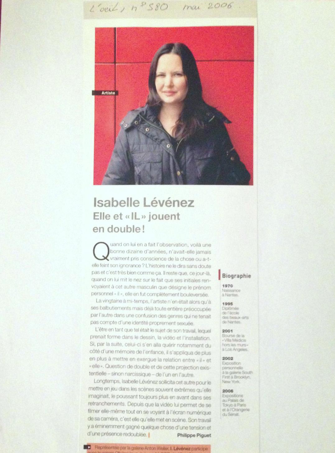 Revue L'Oeil, Portrait 2006