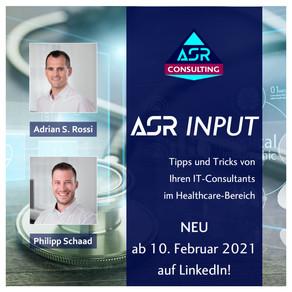 Unsere neue ASR INPUT-Serie startet nächste Woche!