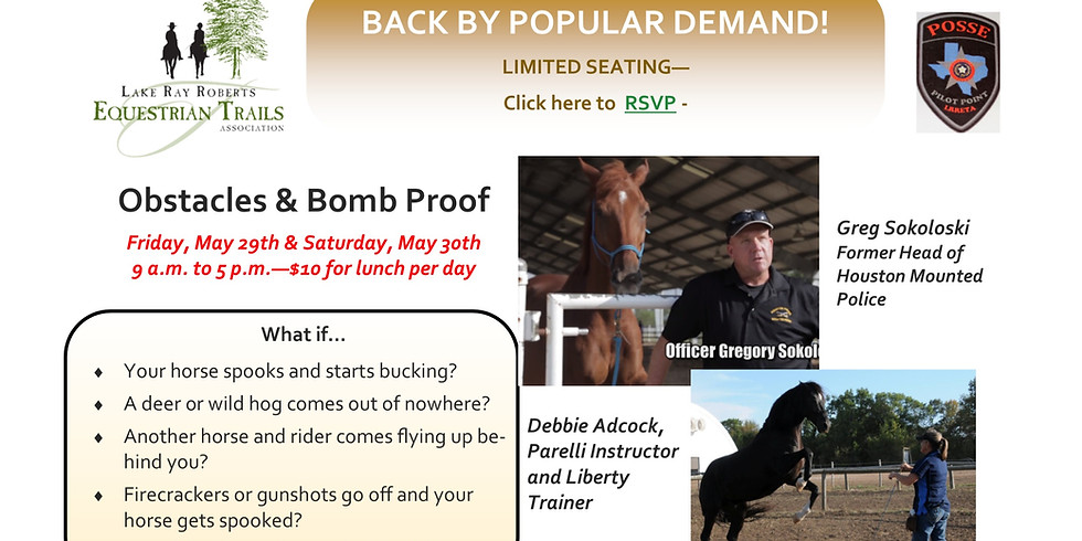 Obstacle / Bomb Proof Clinic - Back by Popular Demand