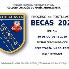 PROCESO POSTULACIÓN BECAS 2020