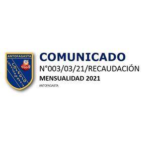 COMUNICADO N° 003