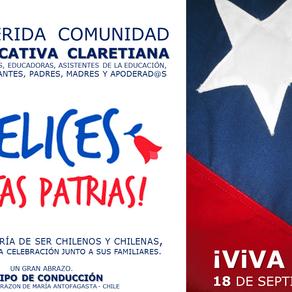 SALUDO DE FIESTAS PATRIAS 2019