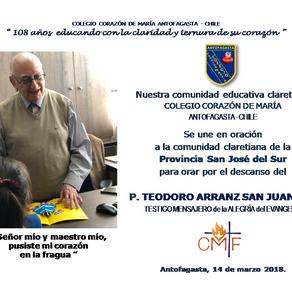 EN LA PASCUA DEL P. TEODORO ARRANZ SAN JUAN cmf