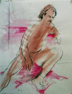 Sitting Male Nude 1994