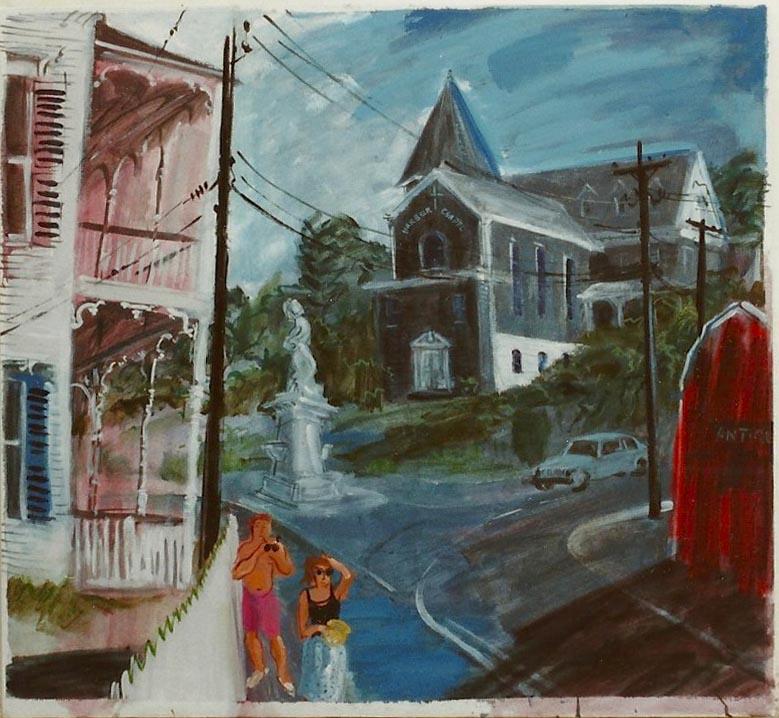 Block Island Street Scene 1992