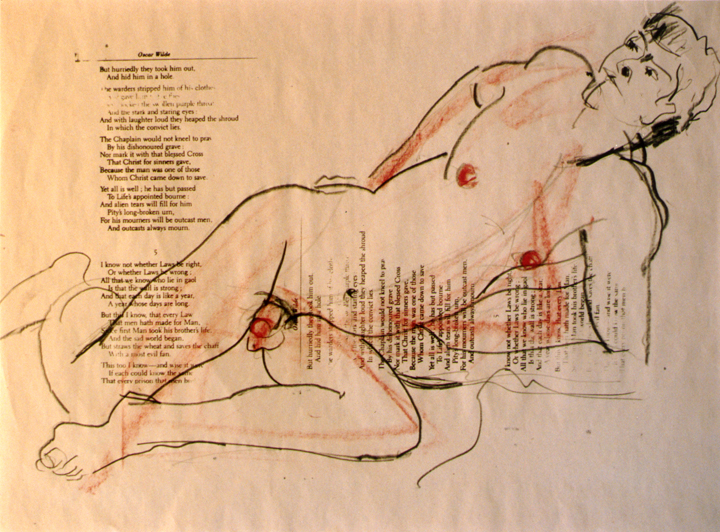 Nude over Oscar Wilde Text 1995