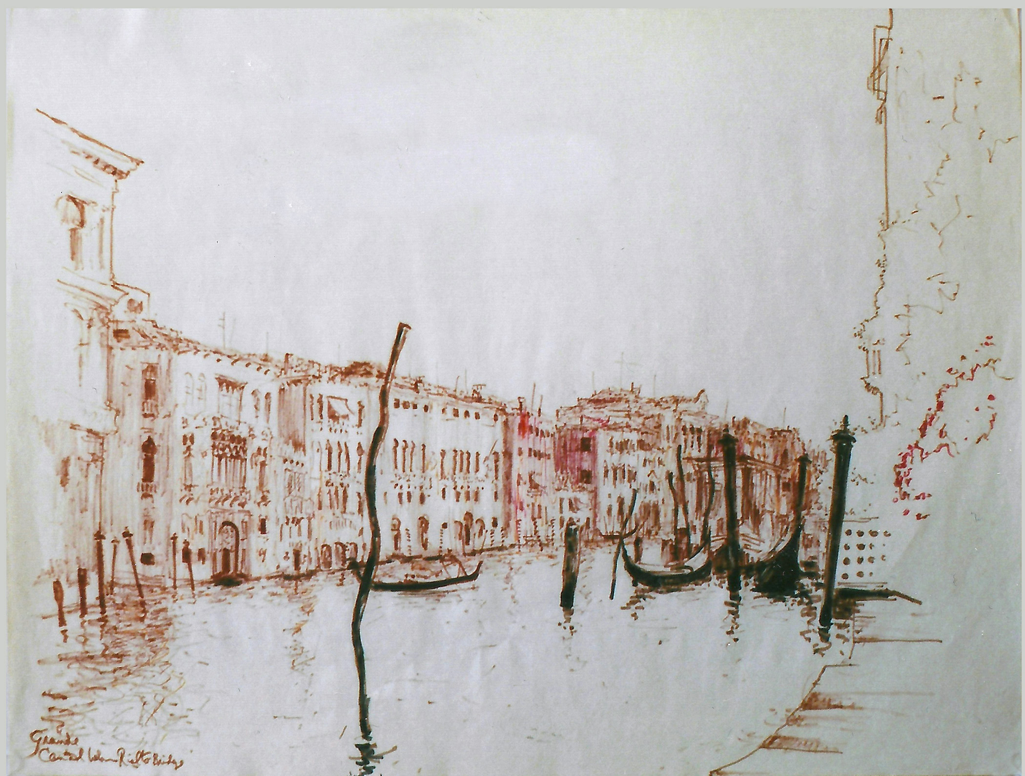 Grande Canal from the Rialto 1966