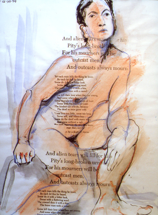 Nude with Oscar Wilde Text