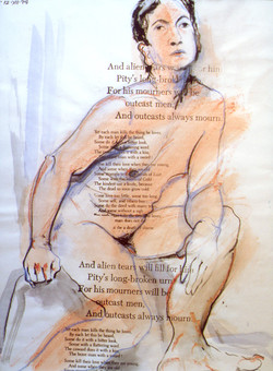 Nude with Oscar Wilde Text