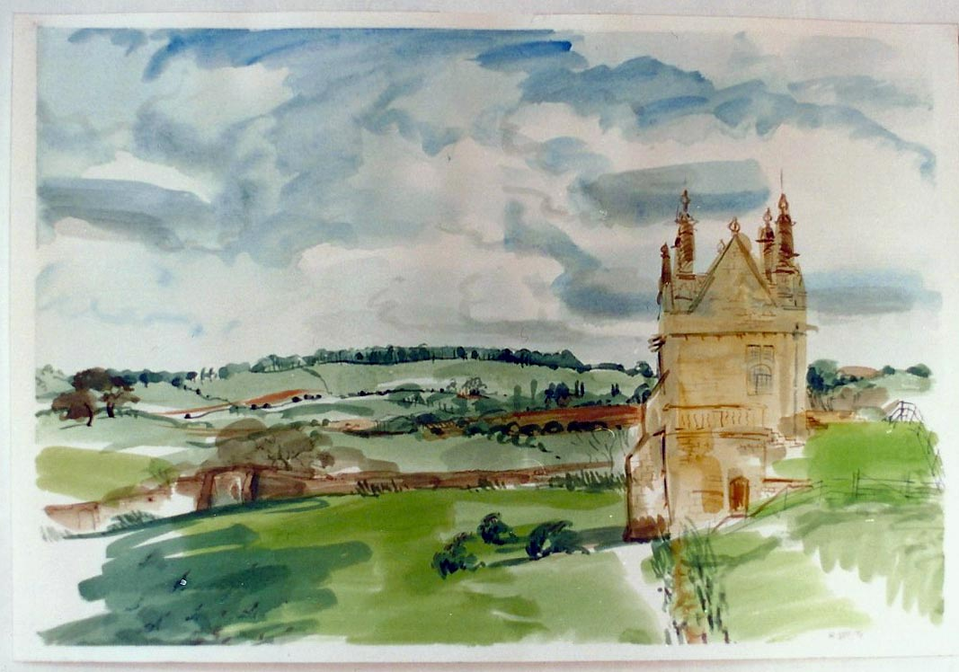 Cotswold Fields and Ruin 1991