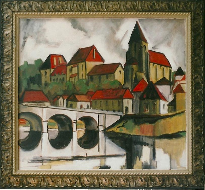 Bridge and Old Town, Le Blanc 2000