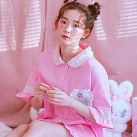달달버니 반팔페어 핑크