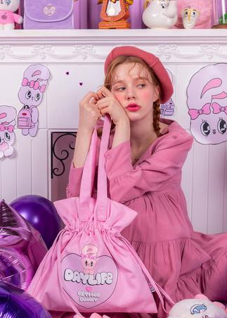 에스더버니 빅하트 복조리 에코백 (핑크)