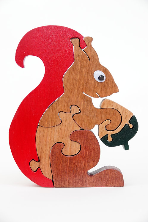 'Wooden Squirrel  Animal'