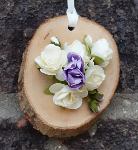 'Small Wooden Wall Plaque'