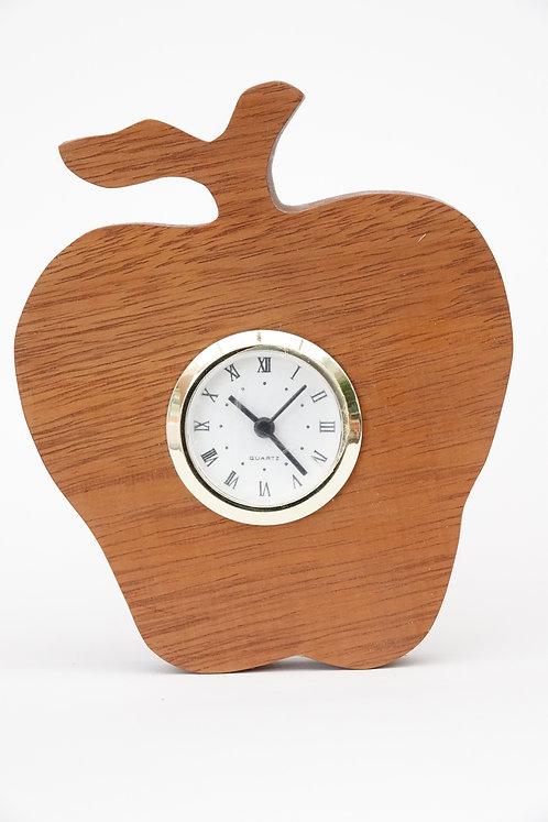 Beechwood 'Apple' Clock