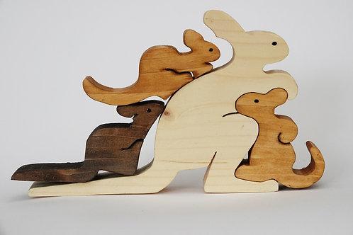 4 Piece 'Kangaroo' Puzzle