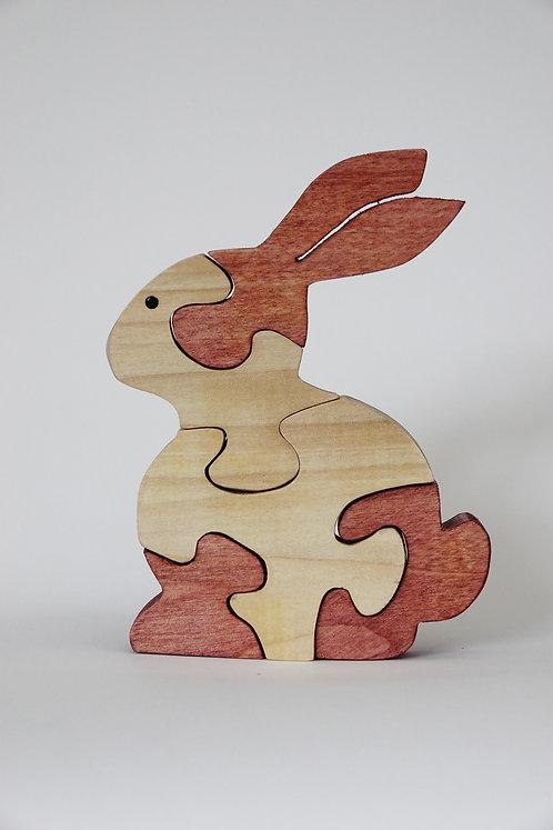5 Piece 'Rabbit' Puzzle