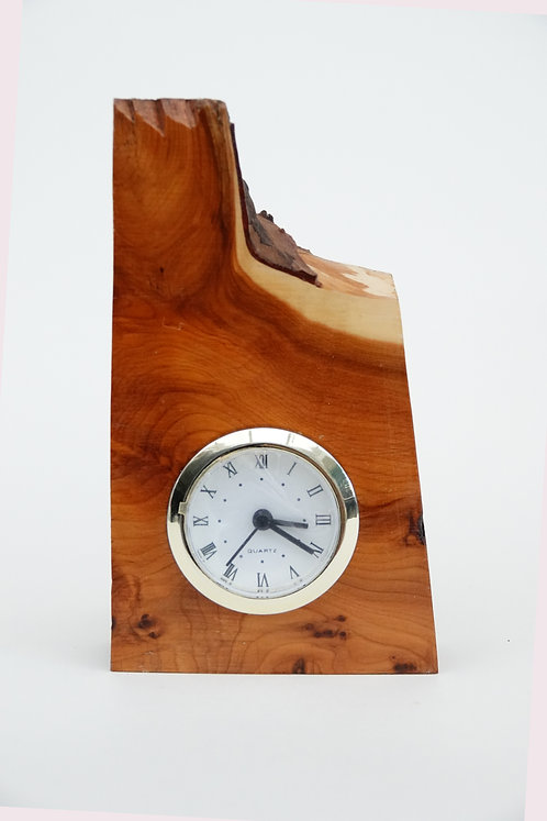'Small Polished Yew Clock'