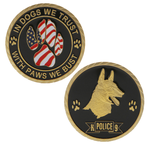 In Dogs We Trust |K9 Challenge Coin