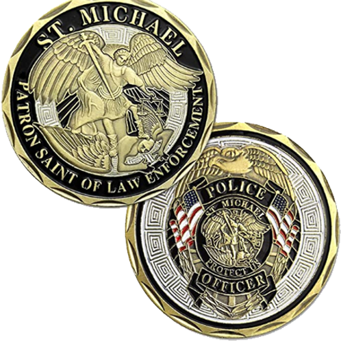 Saint Michael Protect US | Police Coin