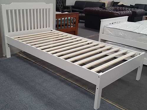 White Single Bed Adjustable Base Height