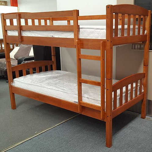 Mikki Single Up/Down Bunk Bed With Mattresses