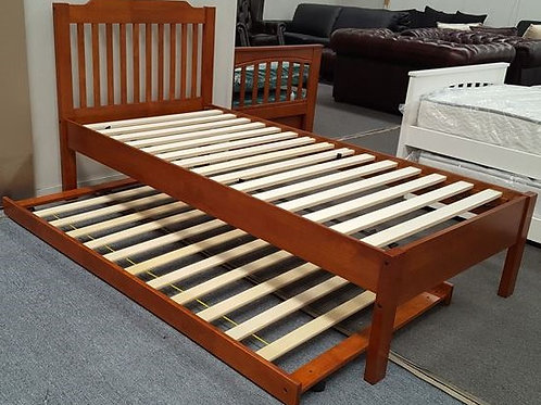 Single Bed Adjustable Base Height with Trundle