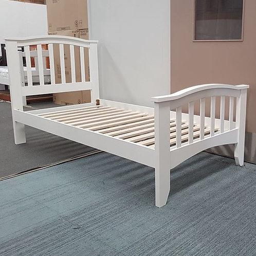 Tyler Hardwood Solid Single Bed -White