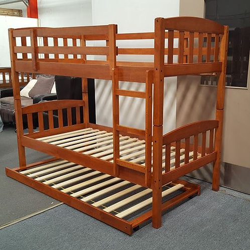 Mikki Single Up/Down Bunk Bed With Trundle