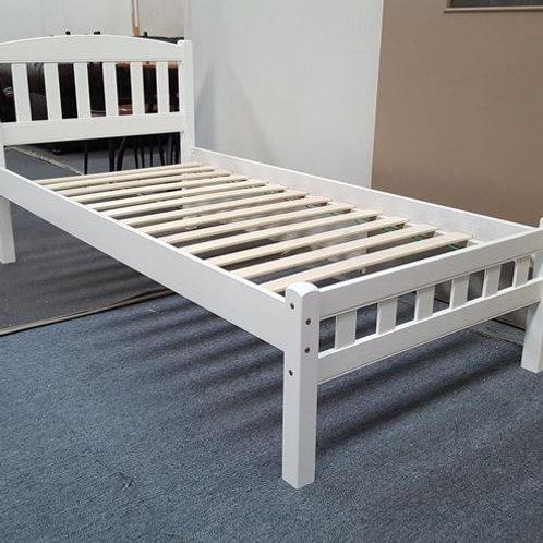 Single Bed Solid Hardwood White