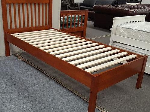 Single Bed Adjustable Base Height Antique Oak