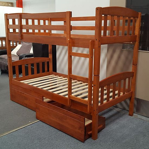 Mikki Single Up/Down Bunk Bed With Drawers