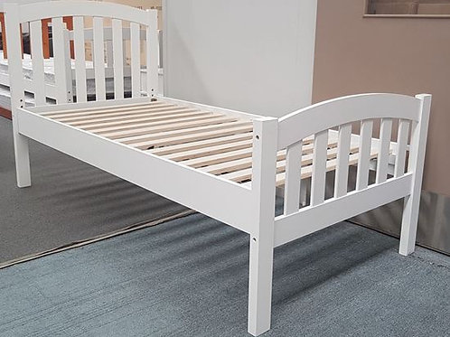 Breda Adjustable Height single bed- White