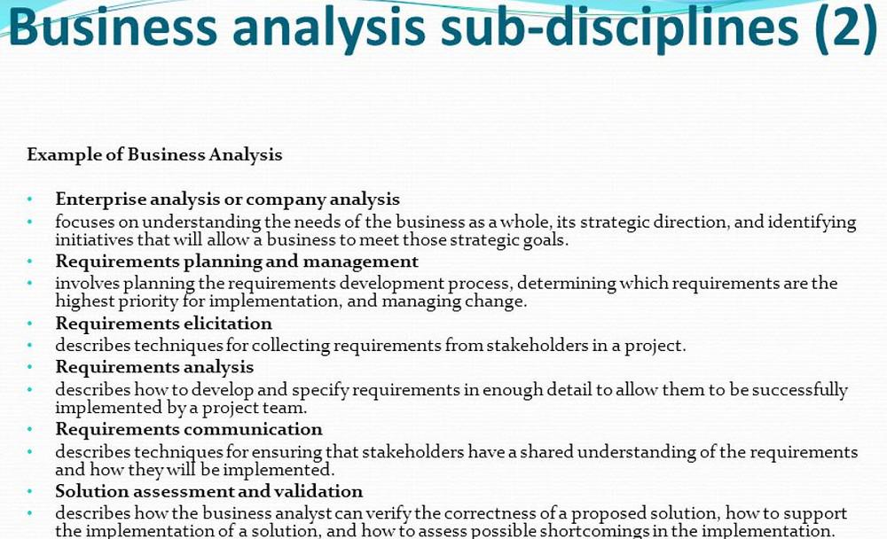 Business Analysis Disciplines