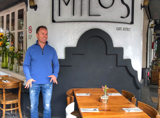 Milos Cafe in lovely Condesa of Mexico City