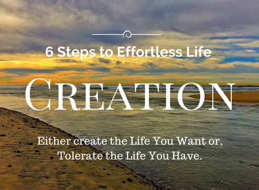 Create the Life You Want or, Tolerate the Life You Have.