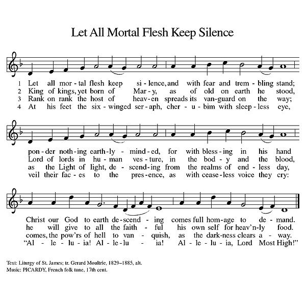 Let All Mortal Flesh Keep Silence (Melod