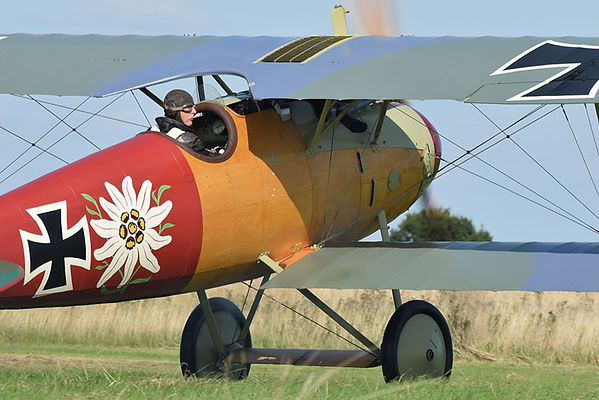 Albatros D.Va at Stow Maries. Photo Credit: Geoff Collins