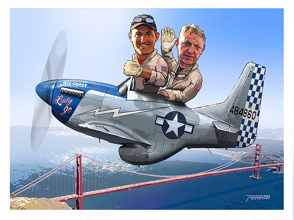Rob Gordon, Darryl Bond in P-51D 'Lady Jo'