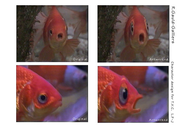 Goldfish reaction for TV commecial
