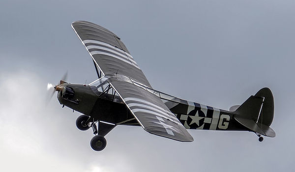 L-4H Cub 'Grasshopper' G-AKAZ at Duxford 'Flying Legends Photo Credit: Brian Marshall