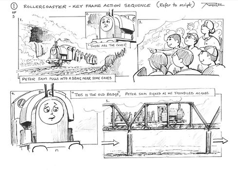 Thomas The Tank Engine Action Storyboard - Rollercoaster 01