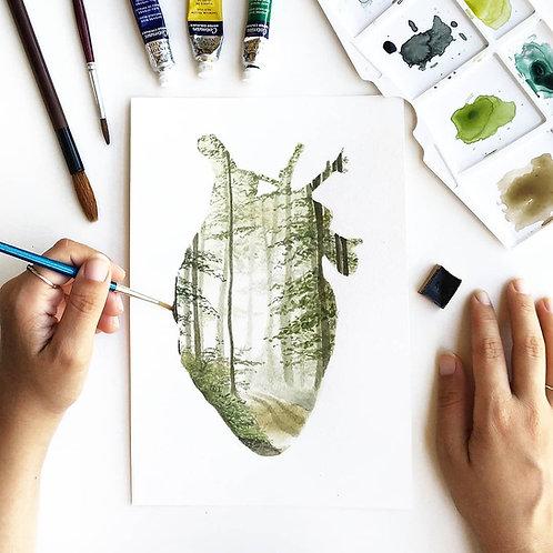 Coração-floresta