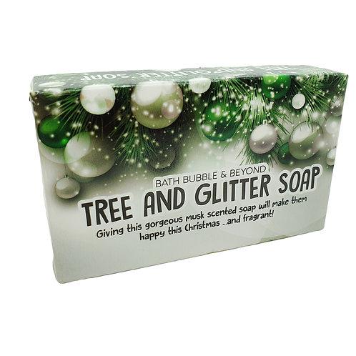 Christmas Tree & Glitter Soap