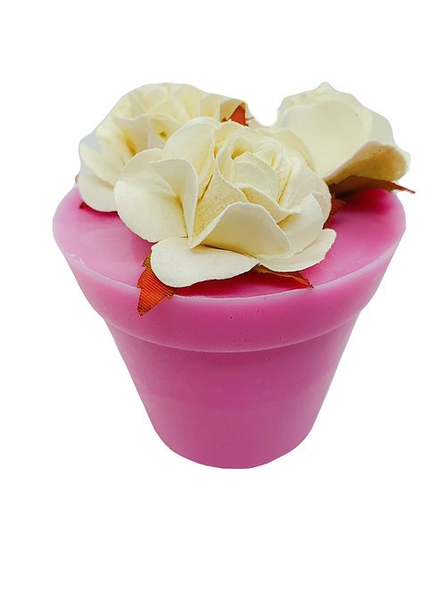 Cerise Plant Pot Soap