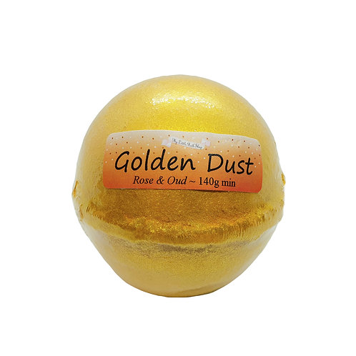 Golden Dust Bath Bomb
