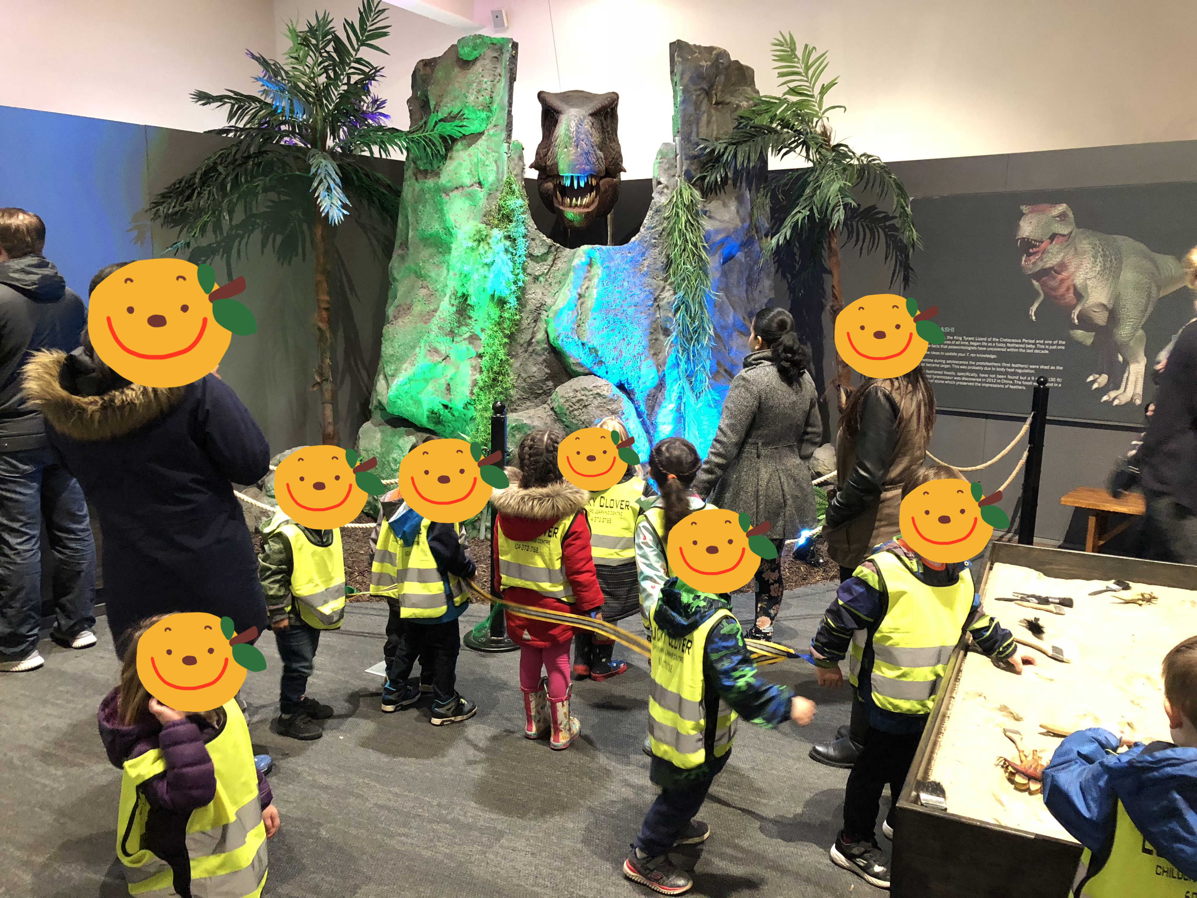 Pre K students field to the Museum of Su